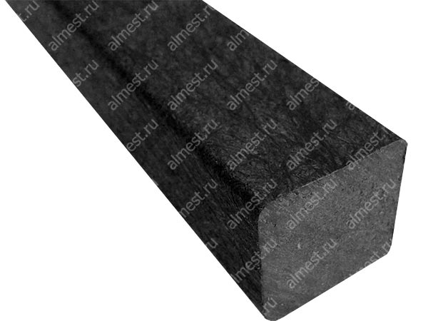 Брус квадратный пластиковый 110*110*2100 ч