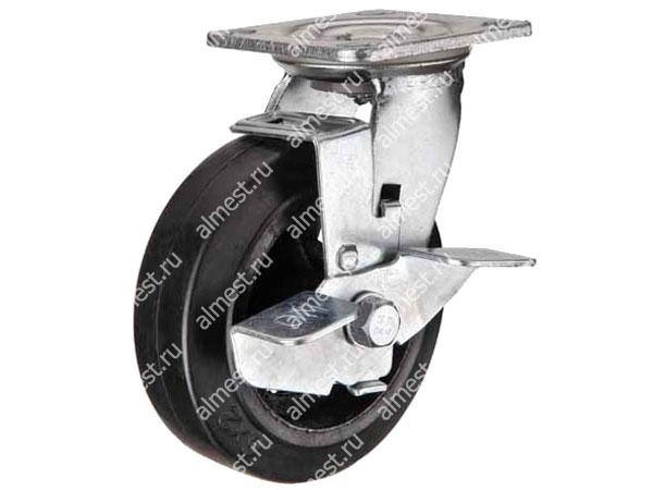 Колесо большегрузное поворотное с тормозом SCDB42