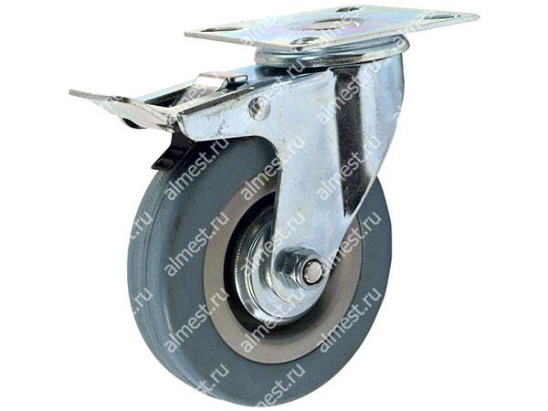 Колесо аппаратное поворотное с платформой с тормозом SCgb42