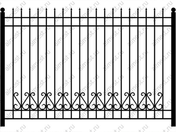 Секция забора кованая ННЗ-009 1,8м