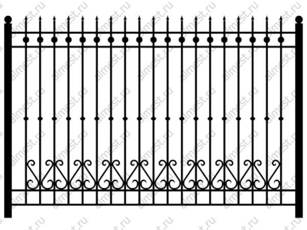 Секция забора кованая ННЗ-013 1,5м