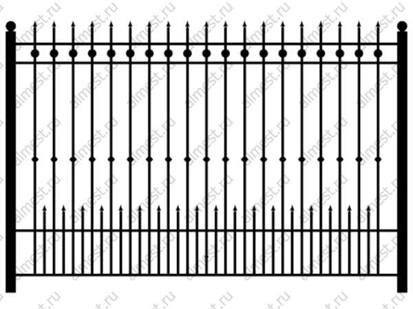 Секция забора кованая ННЗ-015 1,2м