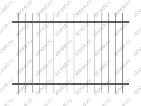 Секция заборная AB-5050 2м