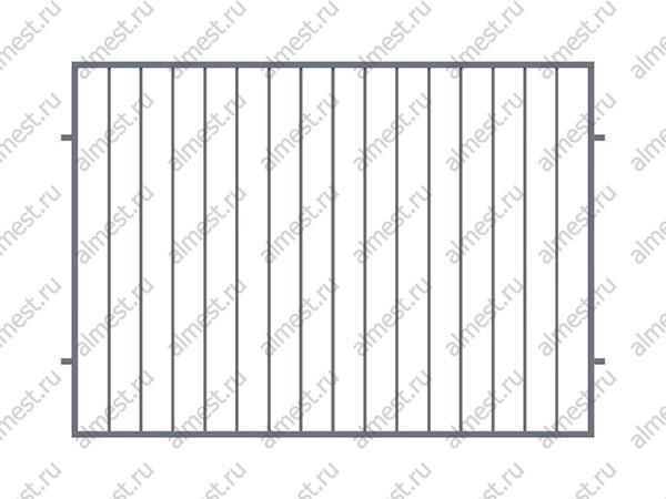 Секция заборная AB-5070 1,5м