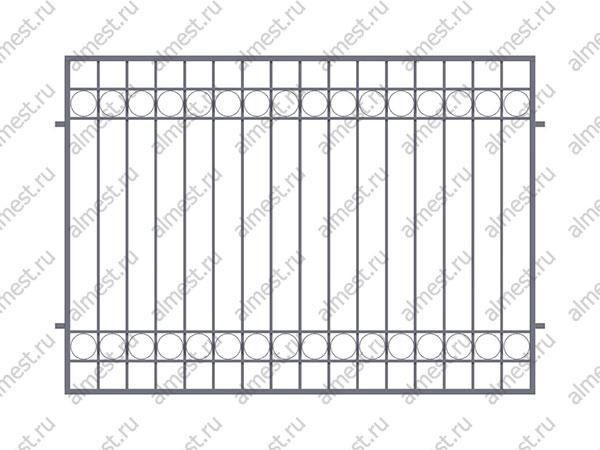 Секция заборная AB-5075 1,5м