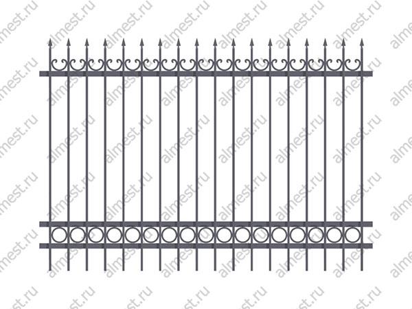 Секция заборная AB-5102 2м