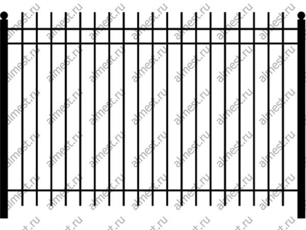 Секция заборная ННЗ-003 1,5м