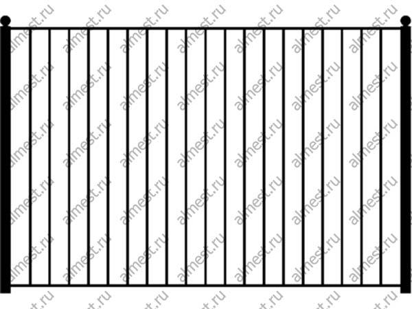 Секция заборная ННЗ-006 1,5м