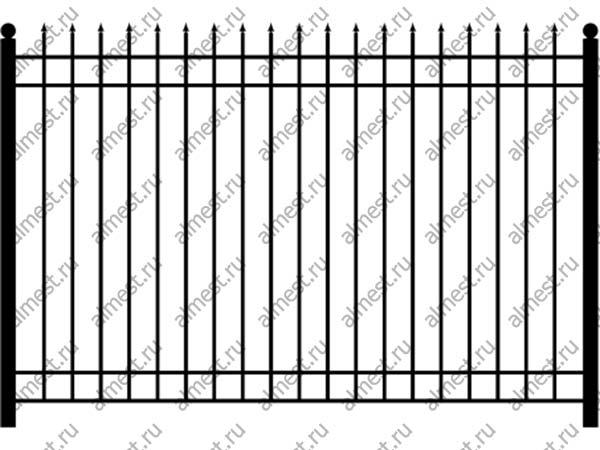 Секция заборная ННЗ-007 2м