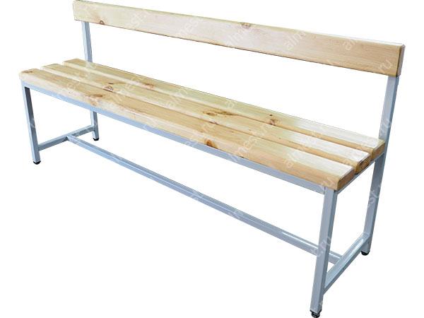 Скамейка для раздевалок AMM-1006 со спинкой
