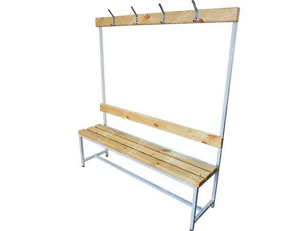 Скамейка для раздевалок AMM-1011 с вешалкой