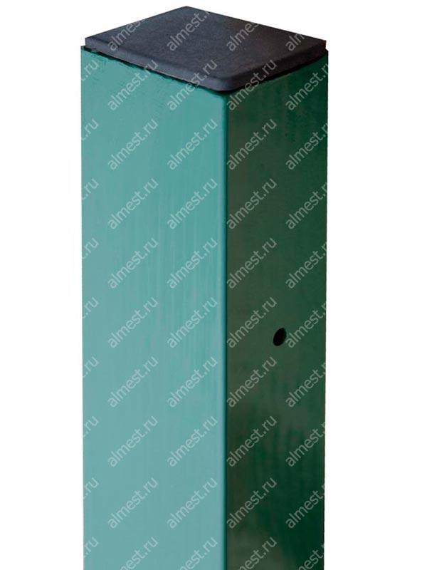 Столб 80*60*4000 RAL6005